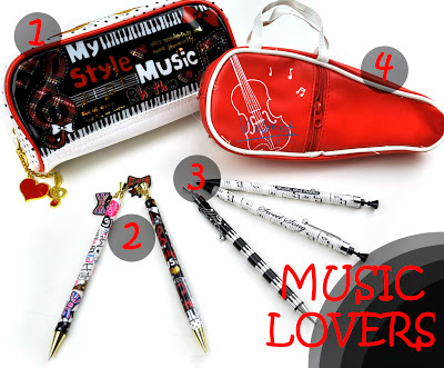 Music design school supplies at CoolPencilCase.com