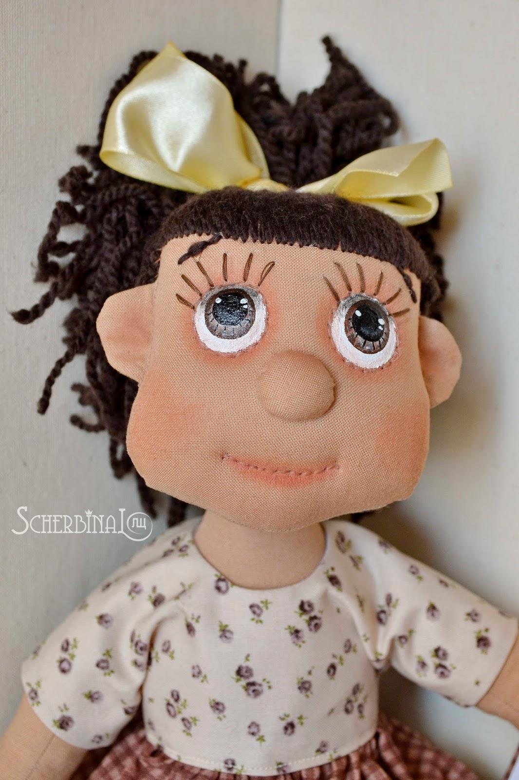 авторская текстильная кукла карамелька Людмилы Щербины