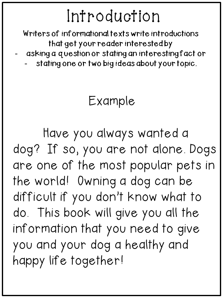 writing informational text -- step by step