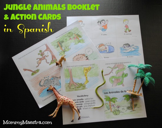 Jungle Animals in Spanish Booklet