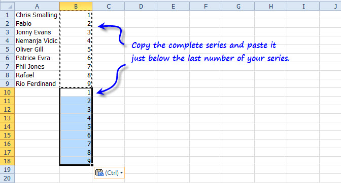 how to put numbers in ascending order on excel