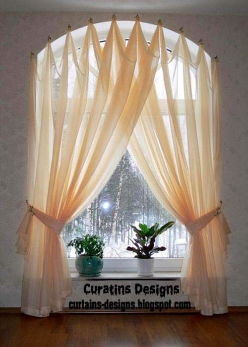 Arched windows curtains on the hooks arched windows for Window design arch