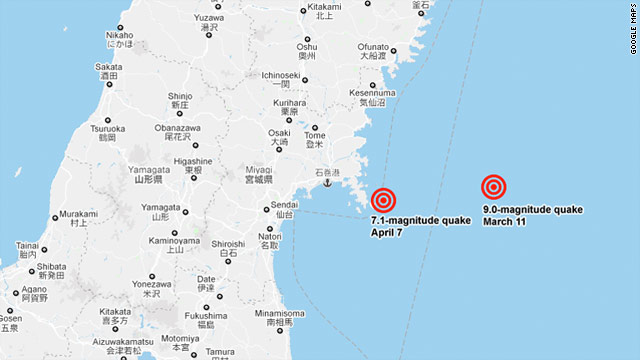 map of japan earthquake today. 2nd earthquake hits Japan