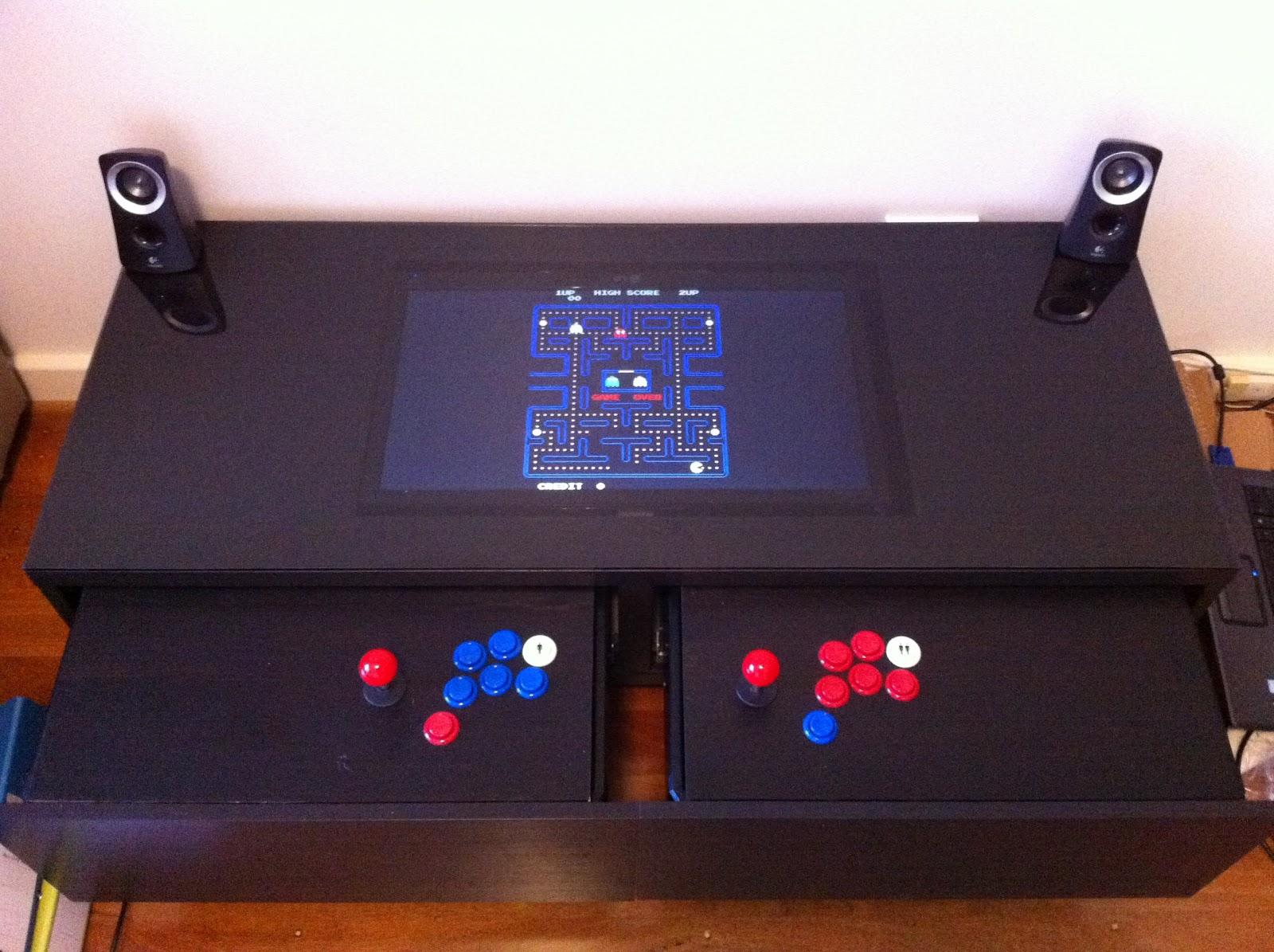 Swangle my diy arcade machine coffee table my diy arcade table coffee table running mame geotapseo Gallery