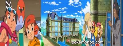 Pokemon XY - Capitulo 20 - ¡Desafío en el Battle Chateau/Bastión Batalla! ¡¡Viola/Violeta VS Grant/Lino!!