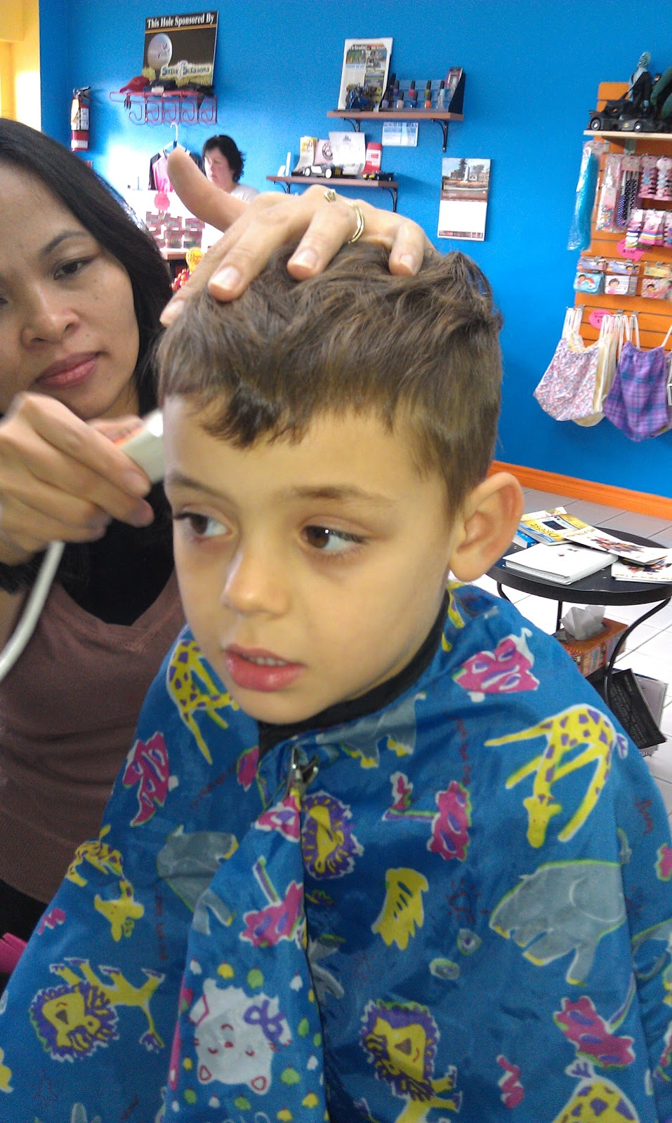 3hundreds6tens5ones 11 20 2011 1st mohawk haircut and hockey game