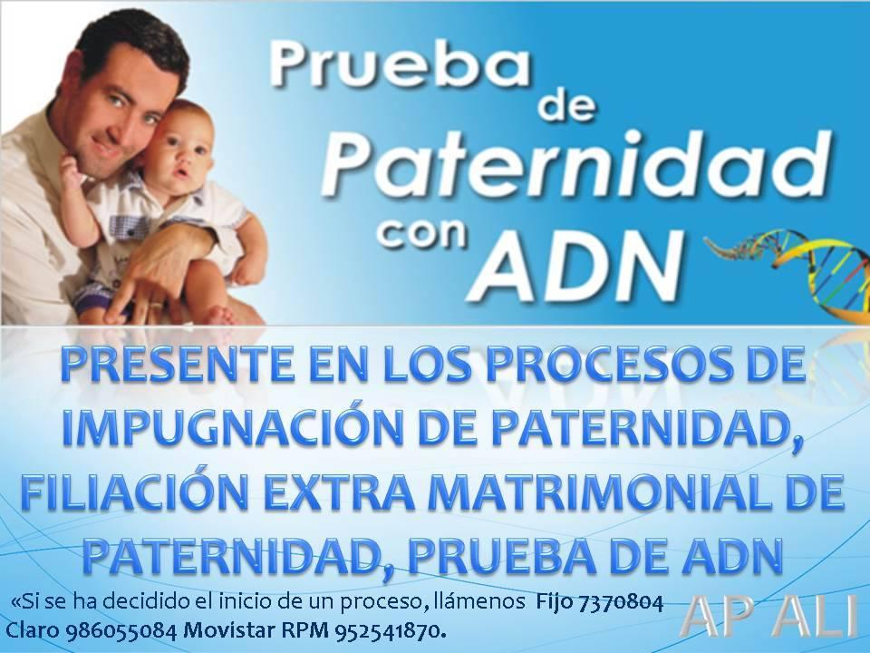 IMPUGNACIÓN DE PATERNIDAD - PRUEBA DE ADN