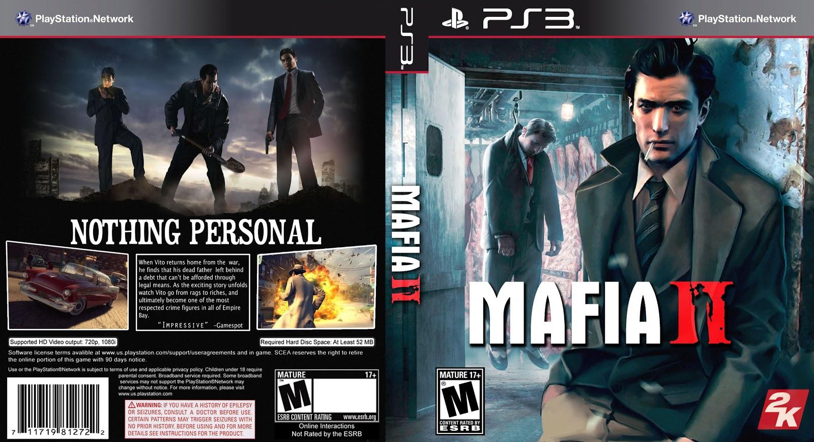 Capa Mafia II PS3