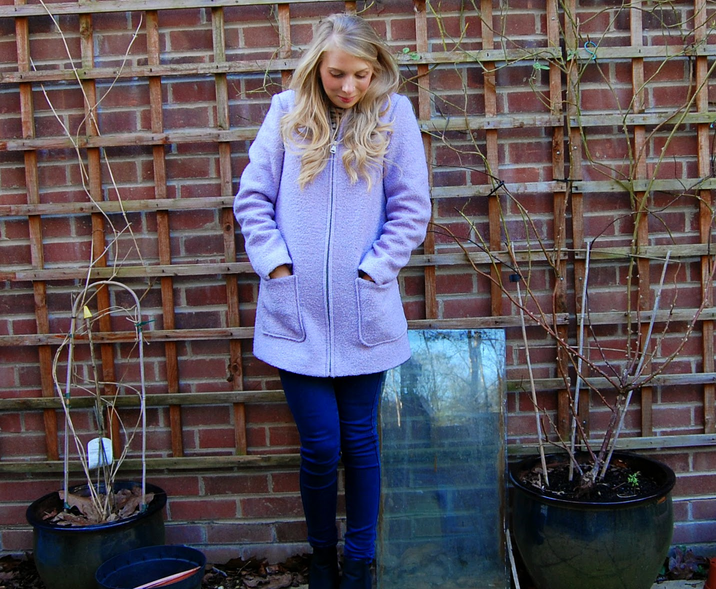 New Look Lilac pastel coat