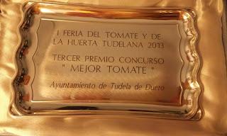 Cherry de La Regadera Verde ganador tercer premio concurso de tomate de Tudela de Duero