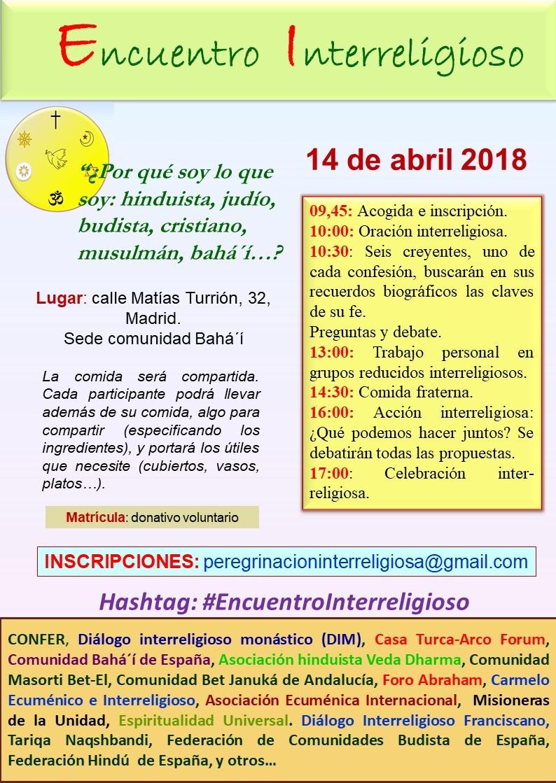 ENCUENTRO DE DIÁLOGO INTERRELIGIOSO