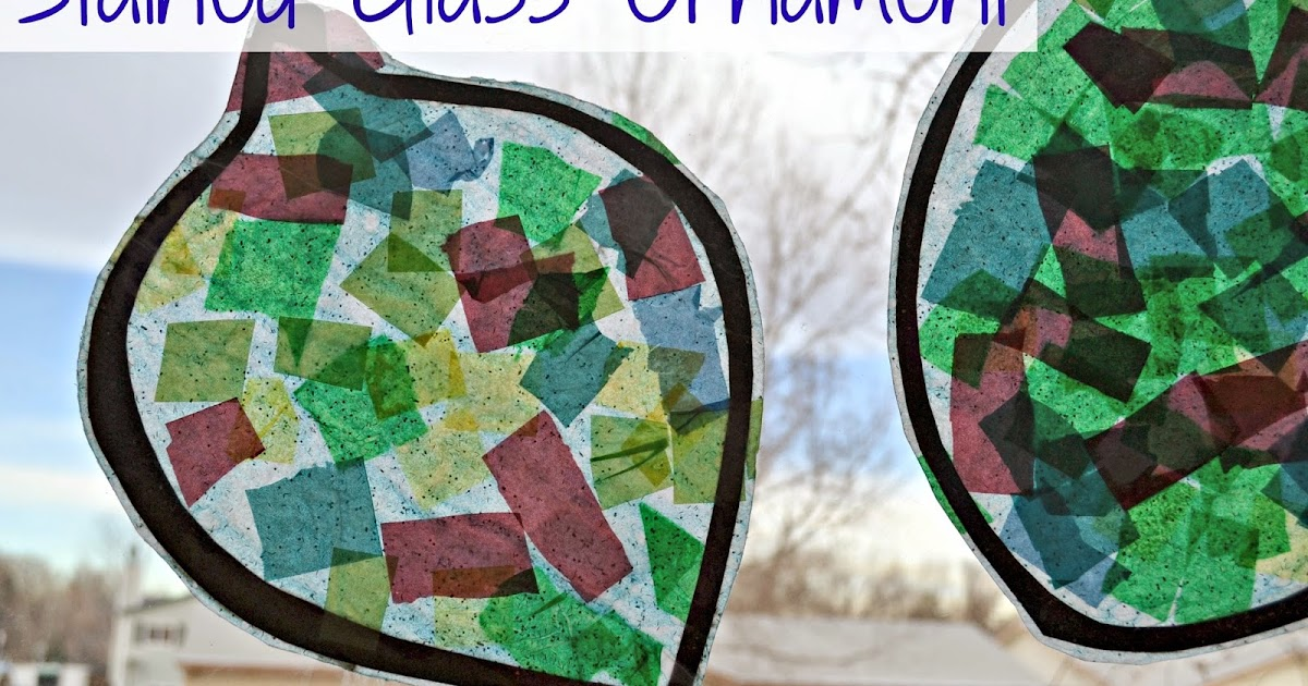 Stained Glass Ornament Preschool Christmas Craft Idea
