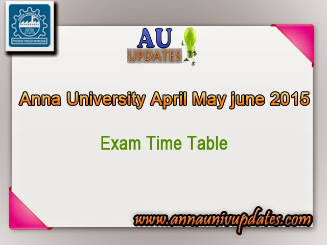 Anna university results 2013 be 2nd 4th 6th semester html for Rgpv time table 6th sem 2015