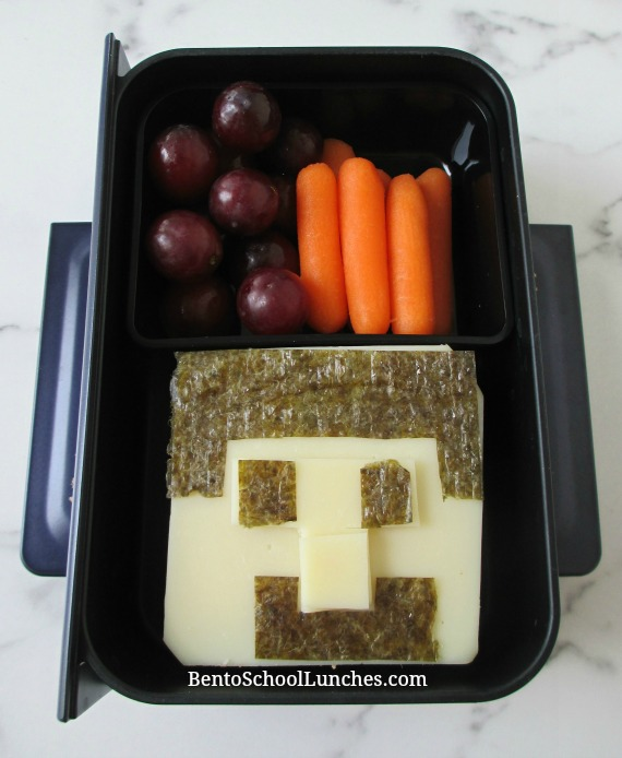 Minecraft Steve bento lunch