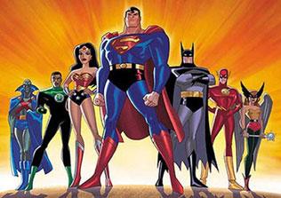superheroes cartoon characters