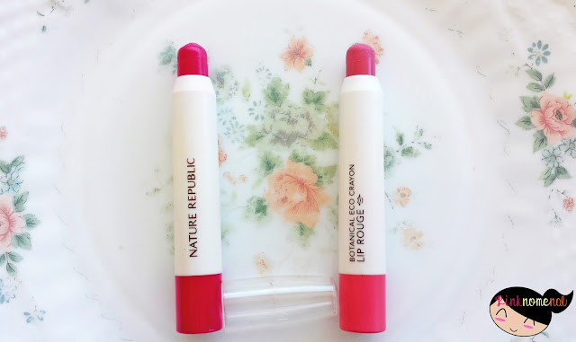 Image Nature Republic Botanical Lip Crayon Lipstick Swatch - pinknomenal.blogspot.com