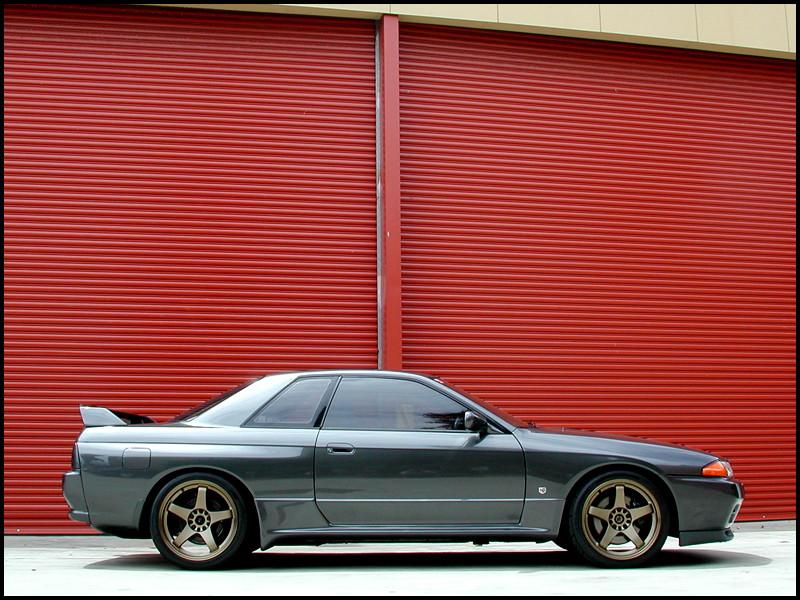 niskie, sportowe, zawieszenie, Nissan Skyline
