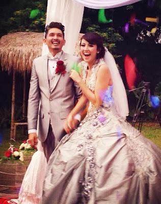 Foto Pernikahan Ryan Delon dan Sharena Gunawan