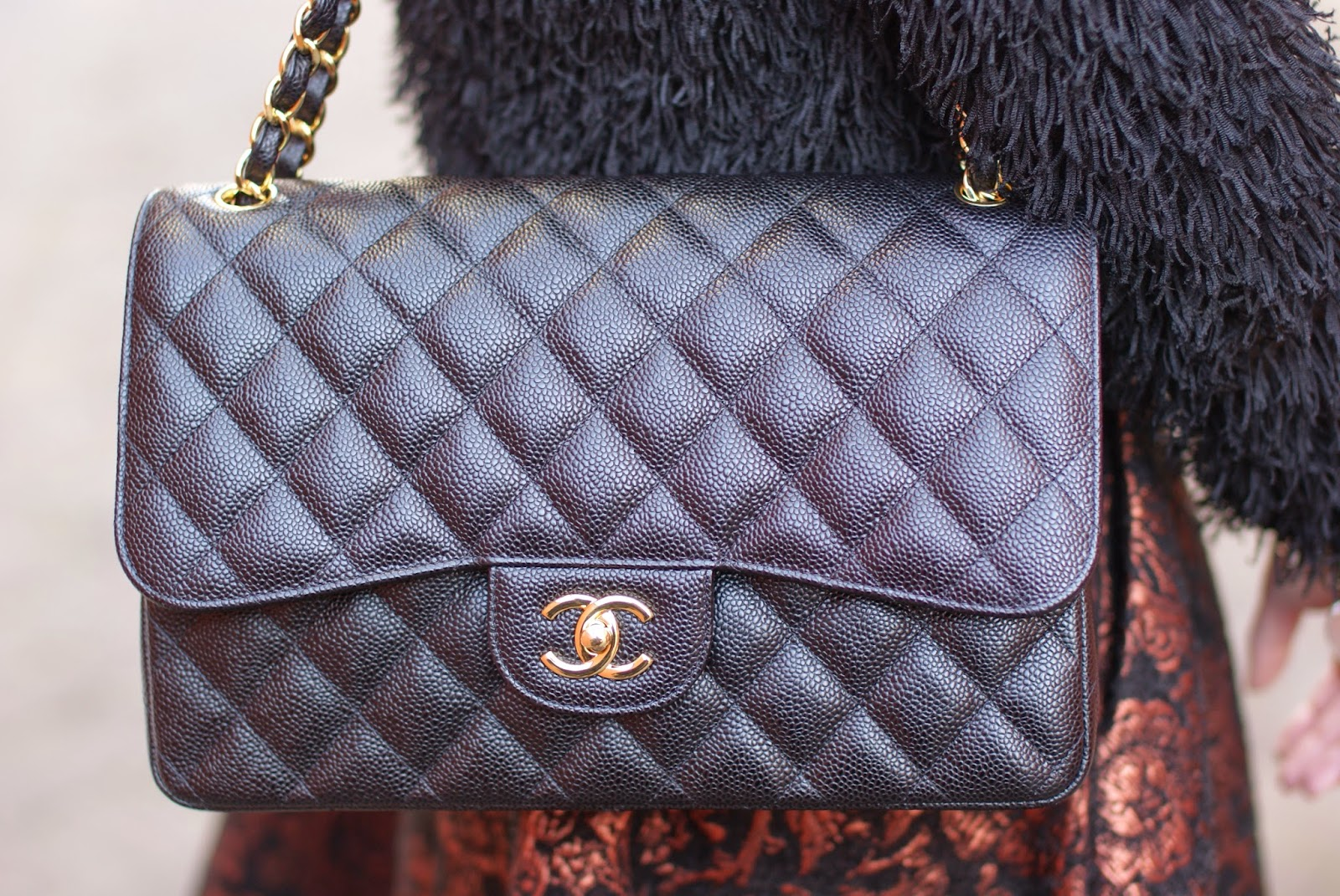 Chanel classic flap bag caviar leather, Fashion and Cookies, fashion blogger