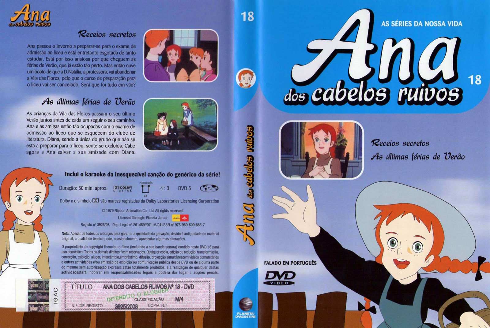 Ana dos Cabelos Ruivos Vol.1 A 25  PT-PT Ana+dos+Cabelos+Ruivos+Vol.18-Capa