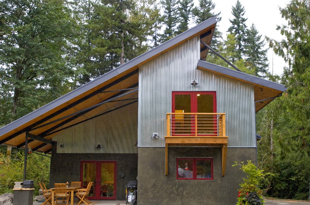... Green Homes Designs Honey I Shrunk The House Metal Concrete And Wood  With A ...