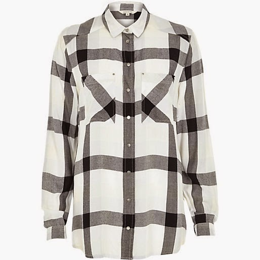 white black check shirt river island