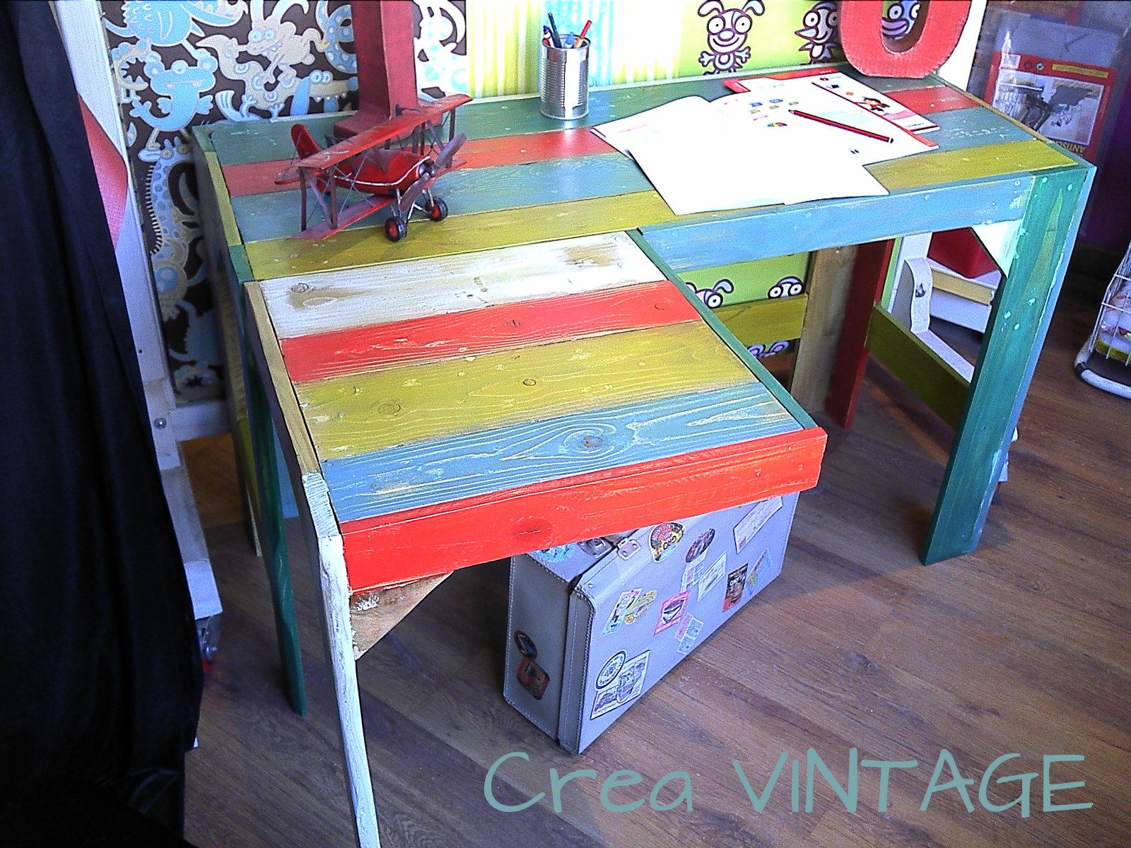 Crea vintage mi trabajo - Escritorio de palets ...