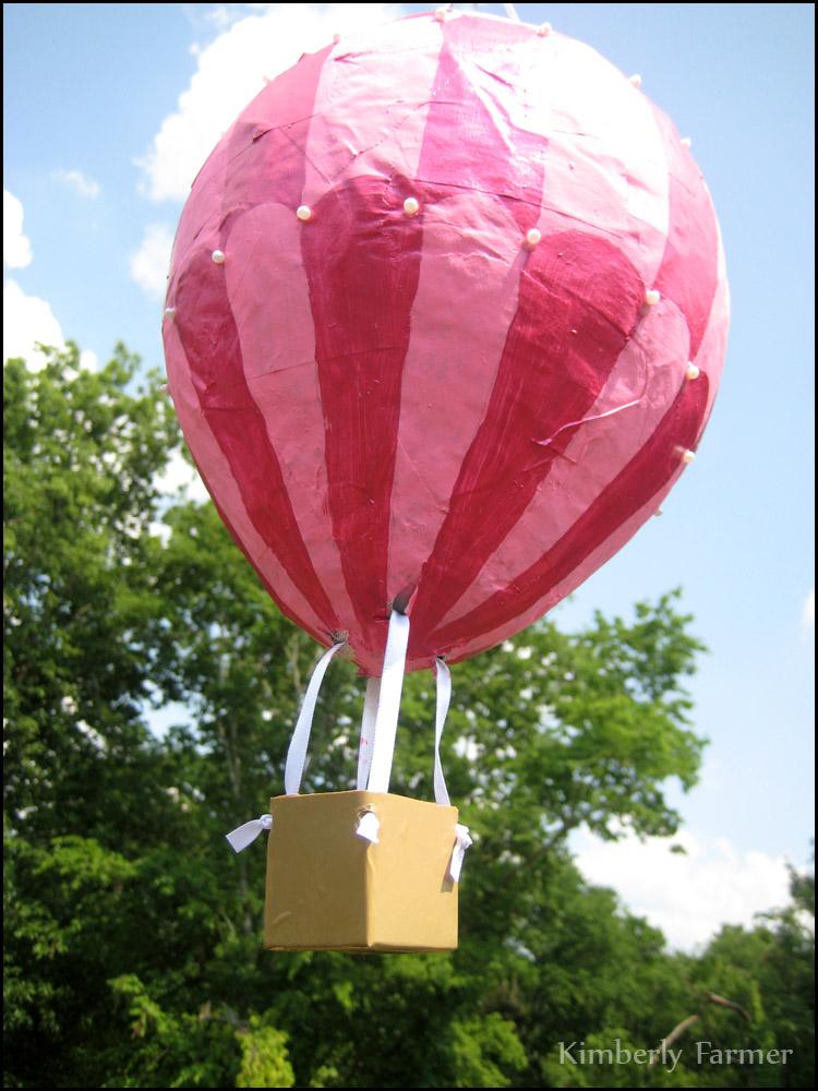 Mommyhood Craft Corner Paper Mache Hot Air Balloon Pi Ata