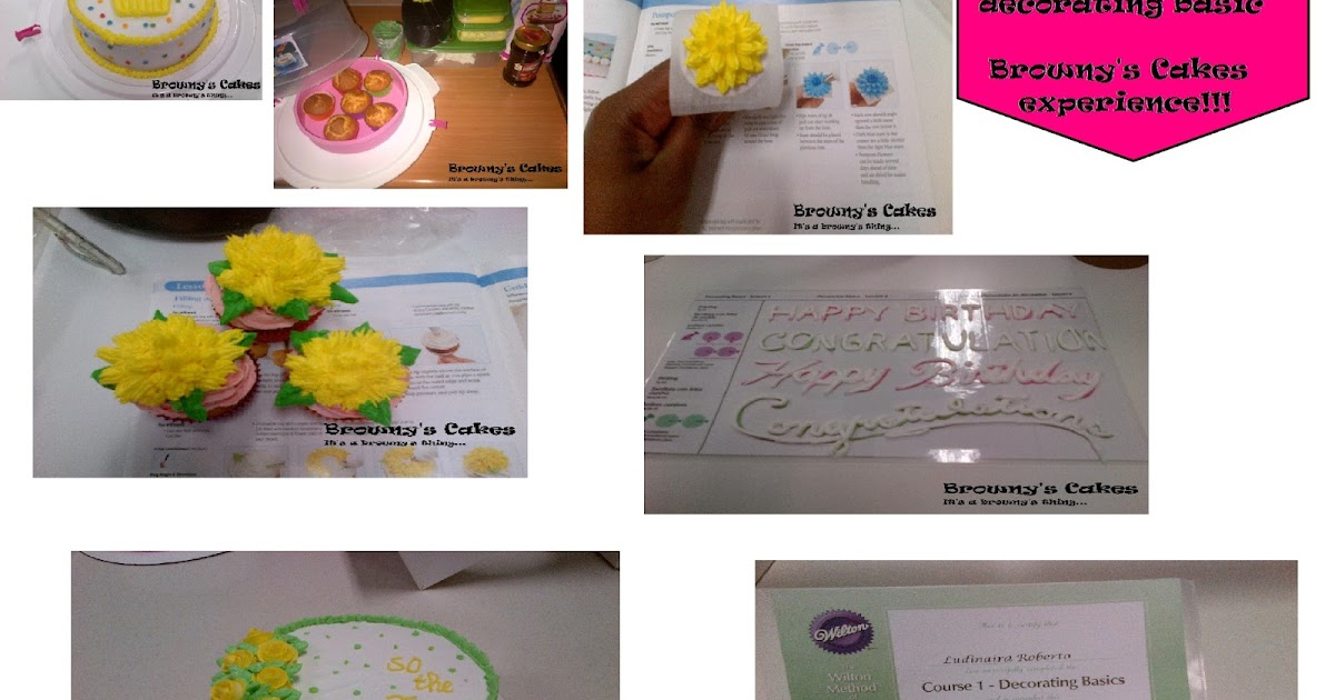 Cake Decorating Course Voucher : Browny s Cakes : Wilton Course 1: Decorating basic certificate