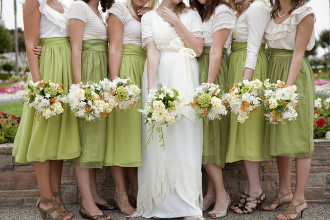 {Wedding Trends}  Bridesmaids in Skirts - how to styled accessorized and mix-match - Belle The ...