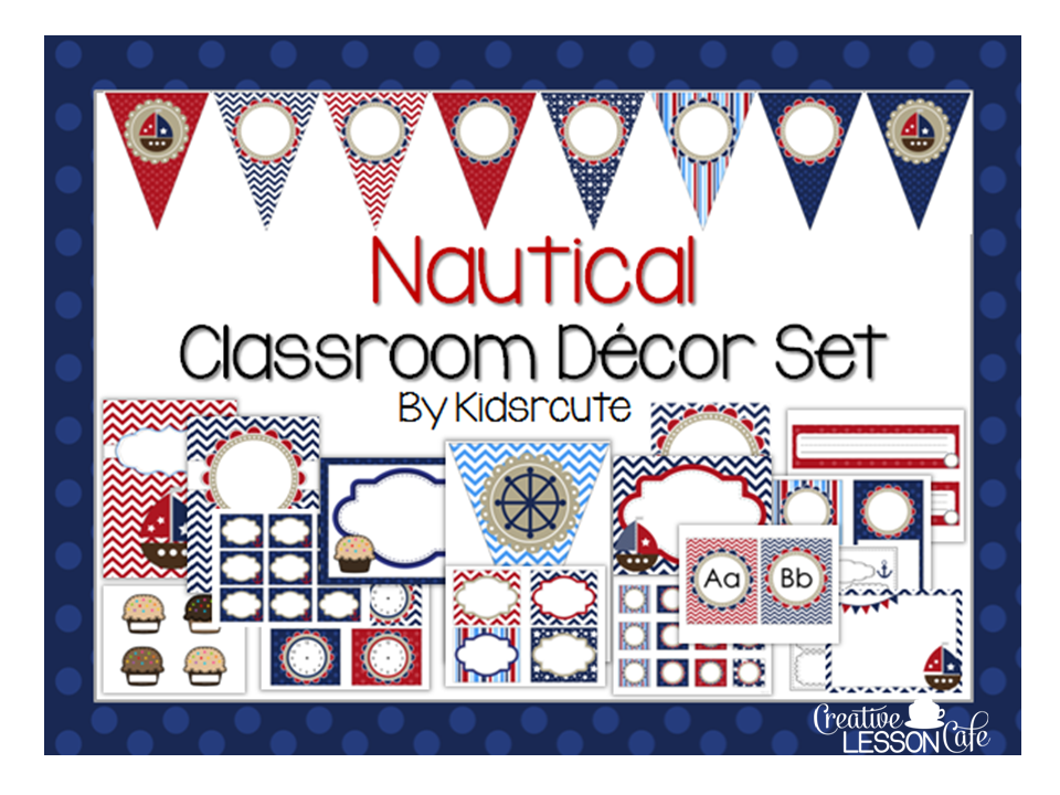 Anchor Classroom Decor ~ Creative lesson cafe nautical classroom decor set and