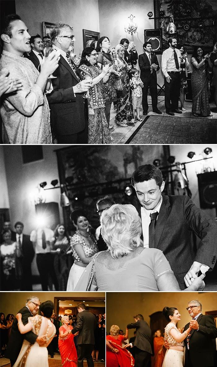 San Martin wedding reception parent dancing Clos LaChance Winery