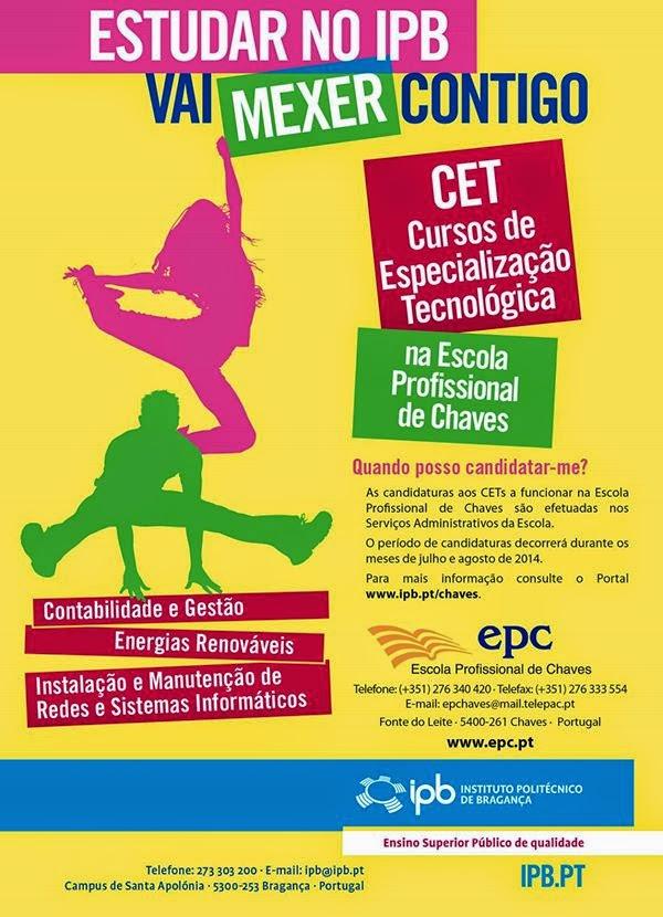 cursos CET em Chaves
