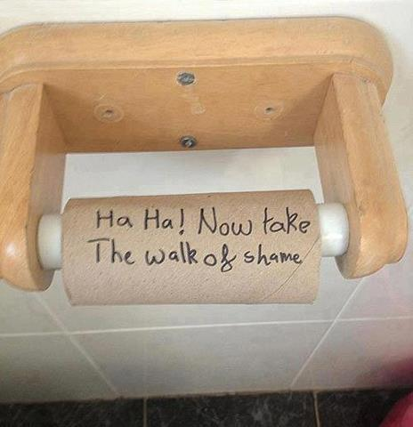Toilet paper funny