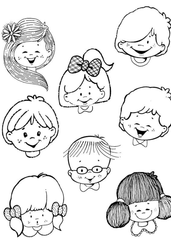 Dibujos Para Colorear De Caritas