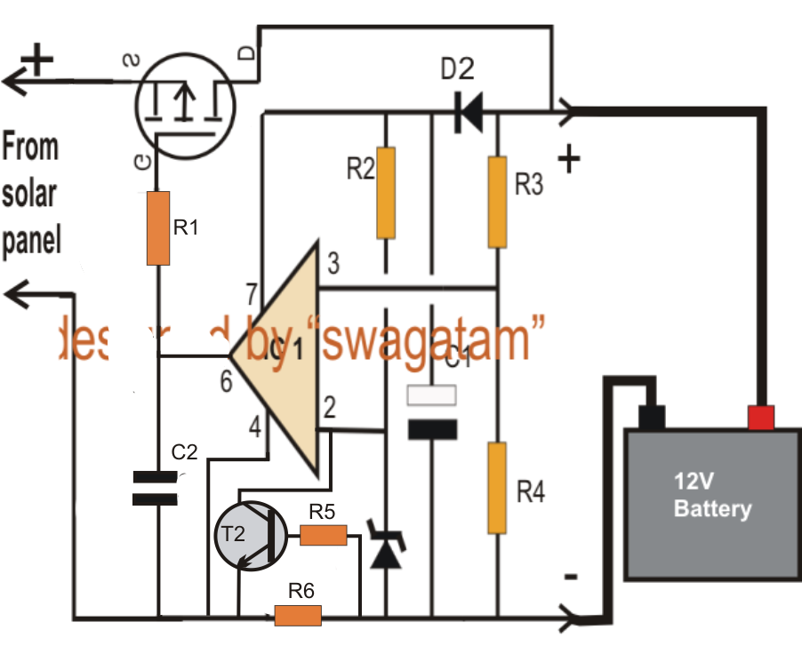 pwm solar charge controller circuit diagram  juanribon, circuit diagram