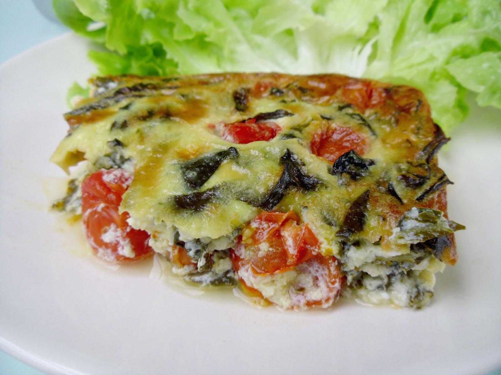 Gourmande ou passionn e flan de tomates cerises et - Cuisiner blettes feuilles ...