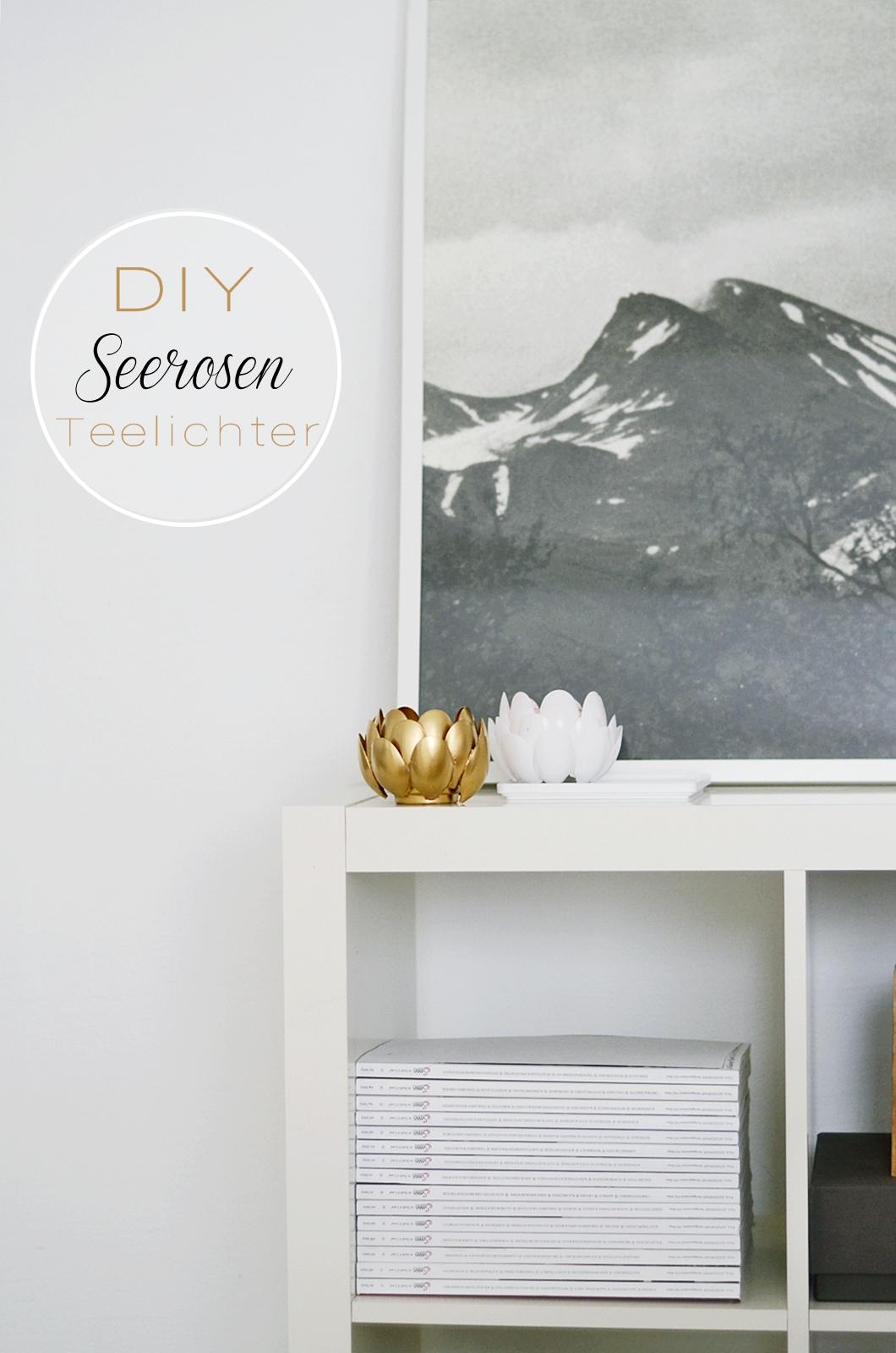 nachmachtipp seerosen teelichthalter aus plastikl ffel. Black Bedroom Furniture Sets. Home Design Ideas