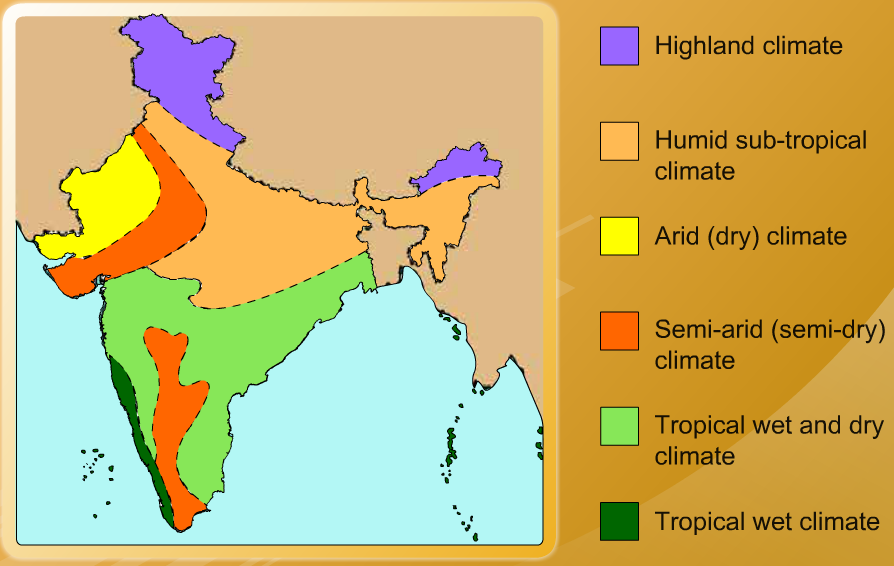 climatic regions of india