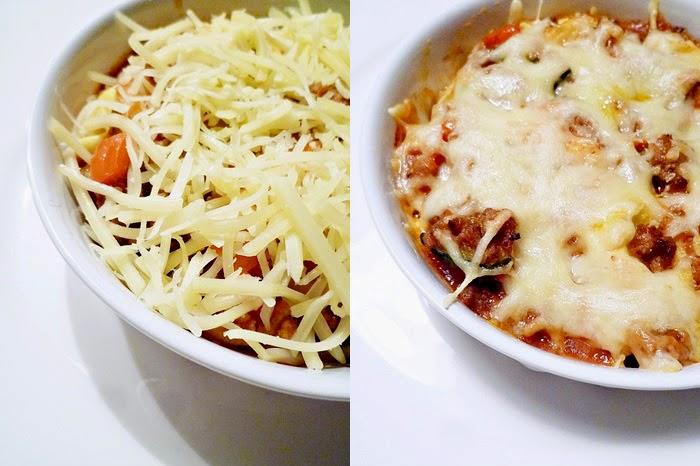 Überbackene Tortellini in Tomatensauce