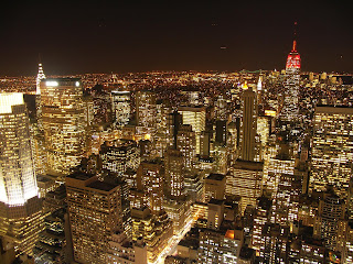 New York City in the night