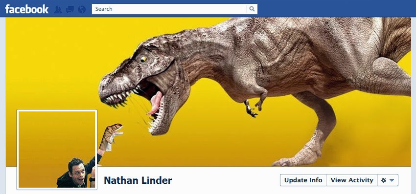 Very creative Facebook timeline image
