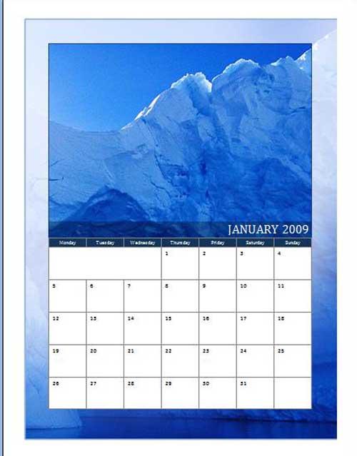 microsoft word calendar template .