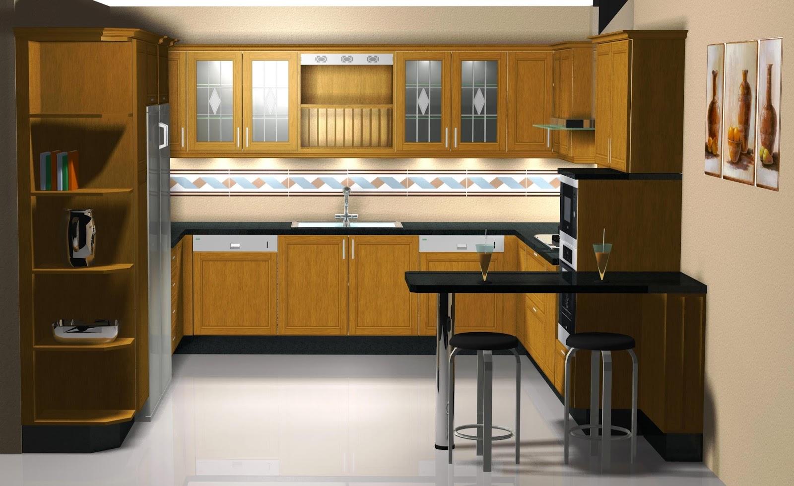 Dise o de cocina en madera de roble for Aplicacion diseno cocinas