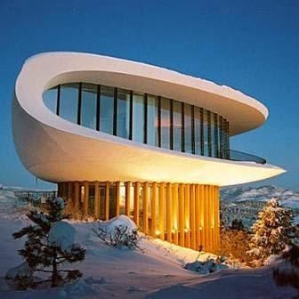 Mansión futurista casa de una película