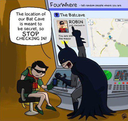 Batman y Robin en las redes sociales (Humor)