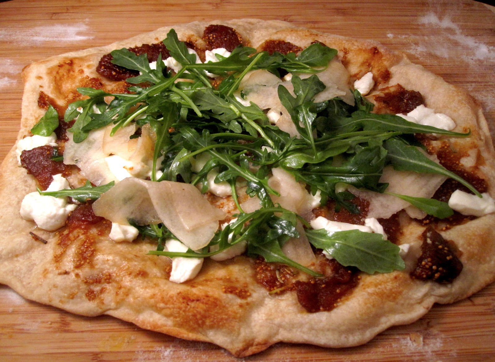 Fig And Goat Cheese Pizza With Arugula Recipes — Dishmaps