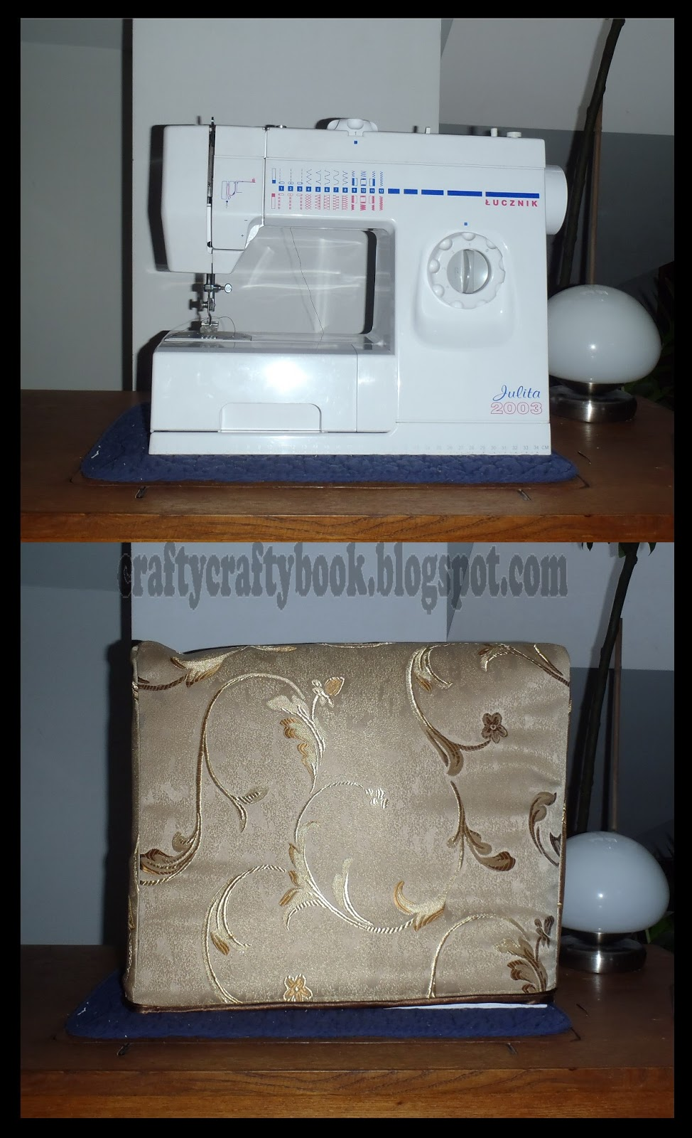 Book Cover Sewing Machines : Crafty book photo tutorial sewing machine cover