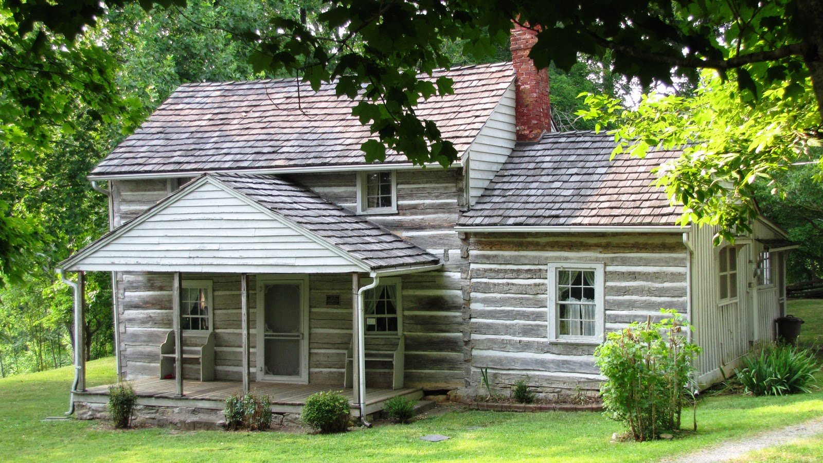 Amazing photo of AK'S Genealogy Research: Log Cabins and Log Houses with #9AB516 color and 1600x900 pixels