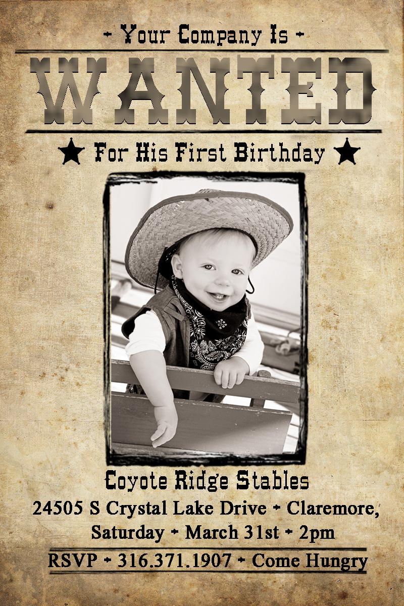 Drake\'s Wild West 1st birthday party!